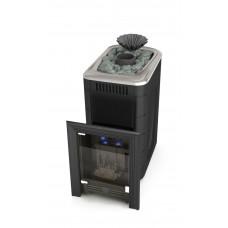 Газовая банная печь-каменка Таймыр Мини 2017 Carbon БСЭ ЗК антрацит TMF