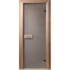Дверь бан. 6мм Dw 1900*700, 2 петли, кор. хвоя, Сатин (01223), 6мм