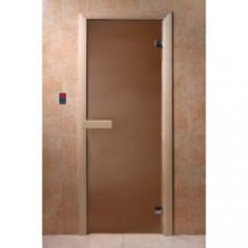Дверь бан. 6мм DW 1900*700, 2 петли, кор. хвоя, БРОНЗА МАТОВАЯ (01218), 6мм