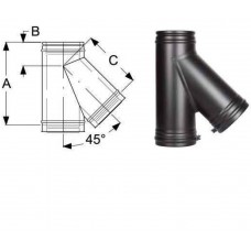 Тройник 45° дымохода Schiedel Permeter 25 - Ø 130 мм