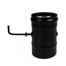 Шибер нерж. поворотный BLACK (AISI 430/0,8мм) д.115 Везувий