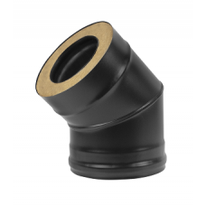 Сэндвич-колено BLACK (AISI 430/0,8мм) 45* 2 секции Везувий