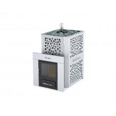 Печь для бани и сауны «Ялта 25» березовый лист ИзиСтим
