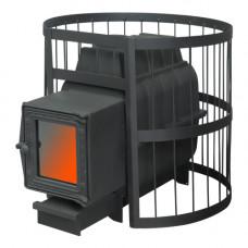 Печь банная ПароВар 16 сетка-прут (201 со стеклом) (FireWay)
