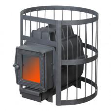 Банная печь ПароВар 16 сетка-прут (К201) без выноса (FireWay)
