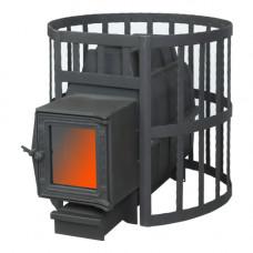 Печь банная ПароВар 22 сетка-ковка (201 со стеклом) (FireWay)
