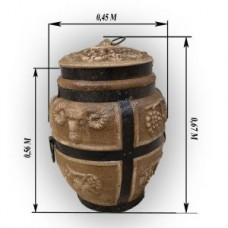 Тандыр дровяной средний Баран Барельеф