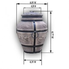 Тандыр дровяной Колос Барельеф