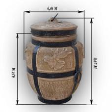 Тандыр дровяной средний Лось Барельеф