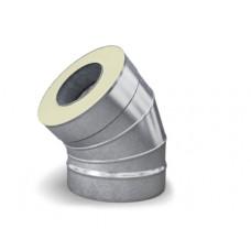Отвод - сэндвич 135° диаметр 115/215 мм 0,5 мм нерж/оц TMF