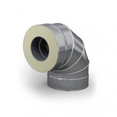Отвод - сэндвич 90° диаметр 115/215 мм 0,5 мм нерж/оц TMF