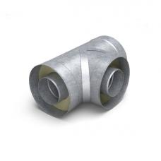 Тройник - сэндвич 90° диаметр 115/215 мм 0,5 мм нерж/оц TMF