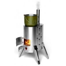 Дровяная портативная варочная печь Дуплет - 1 Inox TMF