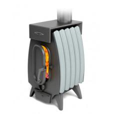 Дровяная отопительная печь Огонь - Батарея 5 Лайт антрацит – серый металлик TMF