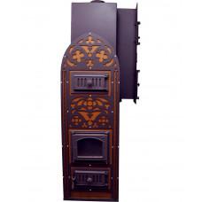 Печь № 05Р «Готика» с конвекционным подогревом предбанника и двойной каменкой Тройка. До 40 м3