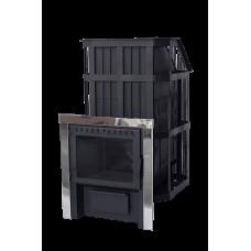 Банная печь «Сибирь» с закрытой каменкой и панорамной дверцей НМК