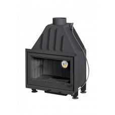 Каминная топка Альфа 700 ТВ с теплообменником черный шамот (ТА700-2ТВ) Экокамин