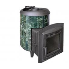 Печь банная Атмосфера комбинированная сетка-ламель Змеевик наборный до 22 м ПроМеталл
