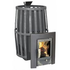 Печь-камин для бани Витязь 18 (сетчатый кожух) PRO