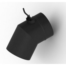Шибер 08ПС антрацит угловой диаметр 120 мм 1,5 мм TMF