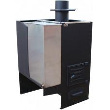 Печь для бани № 01 в комплекте с баком для воды до 18 м3. Тройка