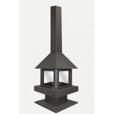 Печь – камин Эклипс островной 4D графит (К185) Экокамин