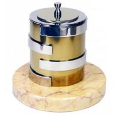Биокамин Биотепло Биосвеча «Серебро» на мраморном основании 3