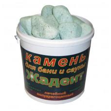 Камень Жадеит шлифованный средний (ведро 20 кг)