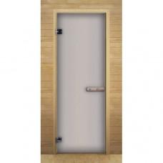 Дверь для бани и сауны Lk Дс Сатин Матовая
