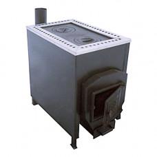 Печь отопительная Varvara (Варвара, Россия) Уют на две конфорки с двумя водонагревательными контурами Деро и К для дома и дачи