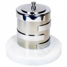 Биокамин Биотепло Биосвеча «Серебро» на мраморном основании 1