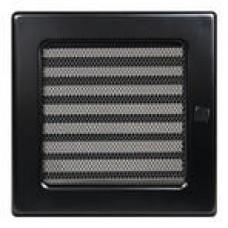 Решетка вентиляционная Каминная Жалюзи 17х17, черный (В)
