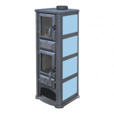 Печь-камин Tim Sistem (Тим Систем, Сербия) Lederata Plus голубая