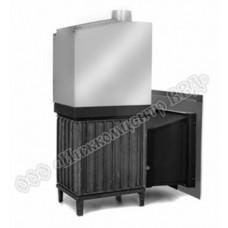 Топочный агрегат для бани Сударушка Семейная дверца стальная окрашенная со стеклом