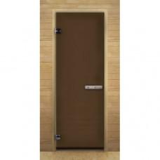 Дверь для бани и сауны Lk Дс Бронза Матовая