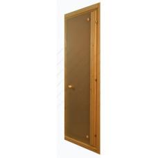 Цельностеклянная дверь для сауны
