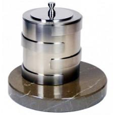 Биокамин Биотепло Биосвеча «Серебро» на мраморном основании 12