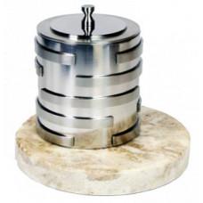 Биокамин Биотепло Биосвеча «Серебро» на мраморном основании 6