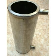 Теплообменник на трубу (бак водяного контура) 2,8 литра для нагрева воды
