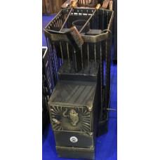 Банная печь Тигра в клетке Амур ковка 12м3 В/К (ДТ-3 глухая) золото