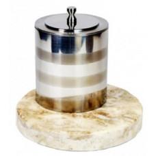 Биокамин Биотепло Биосвеча «Серебро» на мраморном основании 5