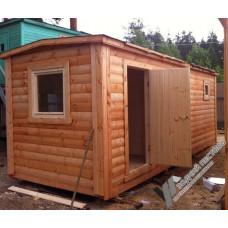 Перевозная мобильная баня 2,3х7 м