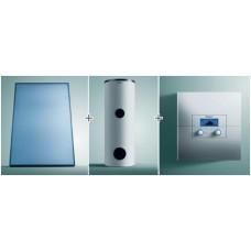 Водонагреватель Vih S 300+два солнечных коллектора aurotherm Vfk 145 V+регулятор calormatic 620/3