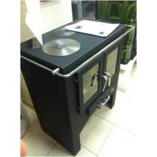 Кухонная плита без духовки (черная сталь) Abx