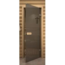 Стеклянные двери для бани и сауны Серия «Linden» Серое