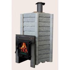 Чугунная печь Карелия-5 Премиум, закрытая каменка, облицовка «Ларец»