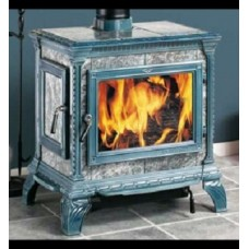 Печь-камин Hergom Heritage светло-голубой