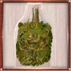 """Веник """"Экстра"""" из кавказского дуба с букетом трав в Vip упаковке"""