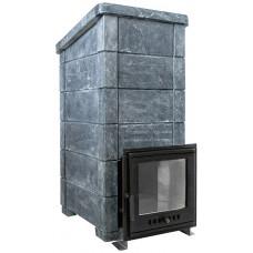 Сударушка Семейная Рк в талькохлориде с фасками Чугунная дверь с панорманым стеклом