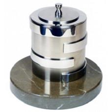 Биокамин Биотепло Биосвеча «Серебро» на мраморном основании 2